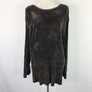 CP Shades Sweater Tunic Brown Chenille Large
